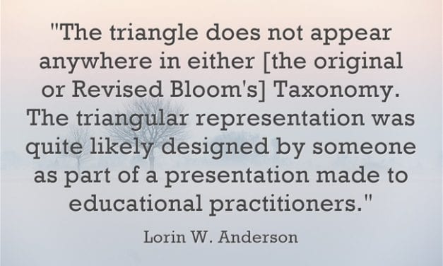 """A Look Back: """"Guest Post From Lorin W. Anderson, Co-Author Of The Revised Bloom's Taxonomy"""""""