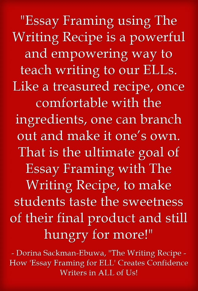 Federalism Essay Paper Over The Past Few Months Ive Published Several Series Of Guest Posts From  Teachers Of English Language Learners One On Teaching Math Another On  Ells And  Research Essay Proposal also Essay Proposal Examples Guest Post The Writing Recipe  How Essay Framing For Ell Creates  How To Write An Essay For High School Students