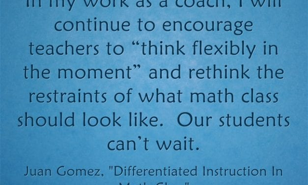 Guest Post: Differentiated Instruction In Math Class
