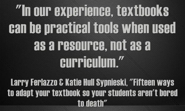 """A Look Back: """"Fifteen ways to adapt your textbook so your students aren't bored to death"""""""
