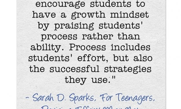 "A Look Back: ""Important Reminder That We Need To Praise Process To Support A Growth Mindset"""