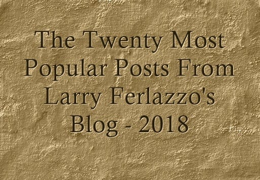 The Twenty Most Popular Posts From This Blog – 2018