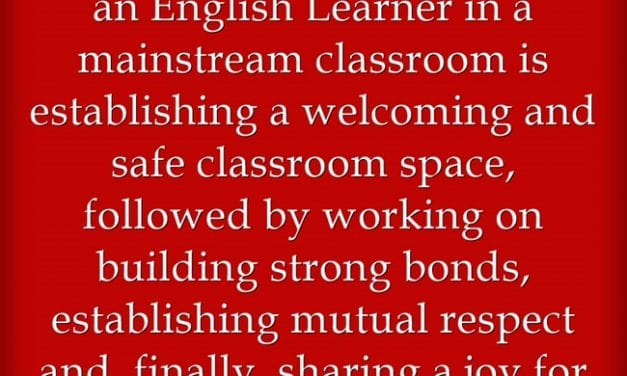 """""""Differentiate for ELLs by 'Establishing a Welcoming and Safe Classroom'"""""""