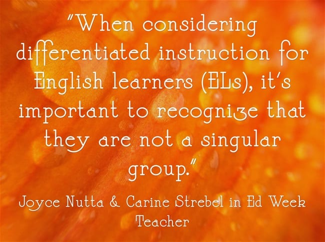 """""""'The Best Place to Start' When Teaching ELLs 'Is by Getting to Know Your Students'"""""""