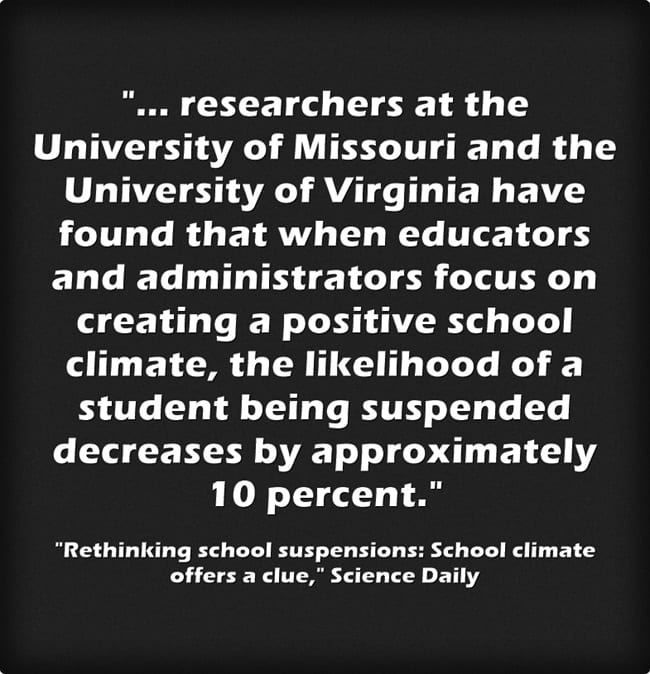 """""""Authoritative"""" School Climate Connected To Reduction In Student Suspensions"""