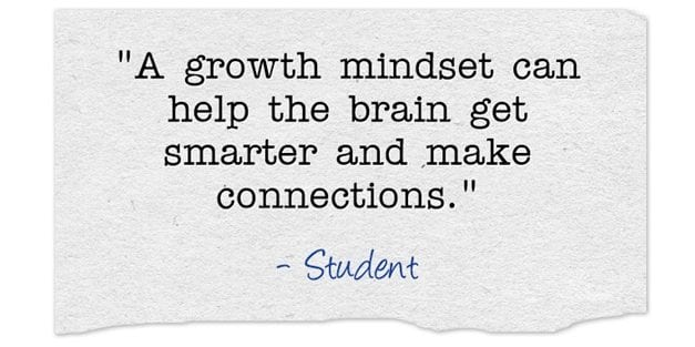 Here Are Examples Of What Students Wrote About A Growth Mindset