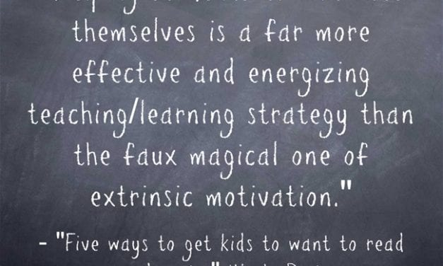 """A Look Back: """"Five ways to get kids to want to read and write"""""""