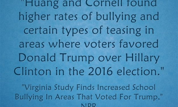 "New Study Finds The ""Trump Effect"" On School Bullying Is Real"