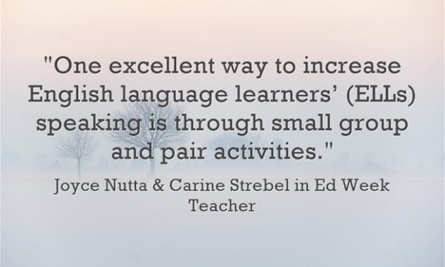 'Promoting Speaking for ELLs Must Be Intentional