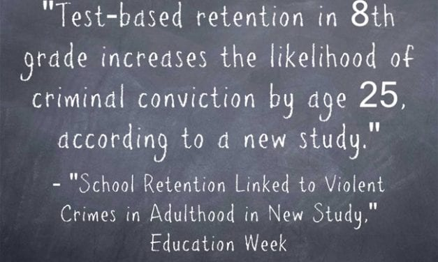 Statistic Of The Day: Grade Retention Can Lead To Crime