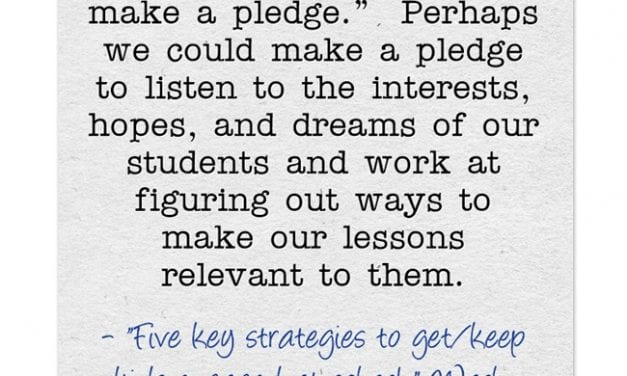 """A Look Back: """"Five key strategies to get/keep kids engaged at school"""""""