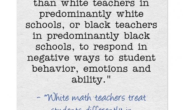 Study Finds White Teachers Tend To Respond To African-American Students More Negatively…