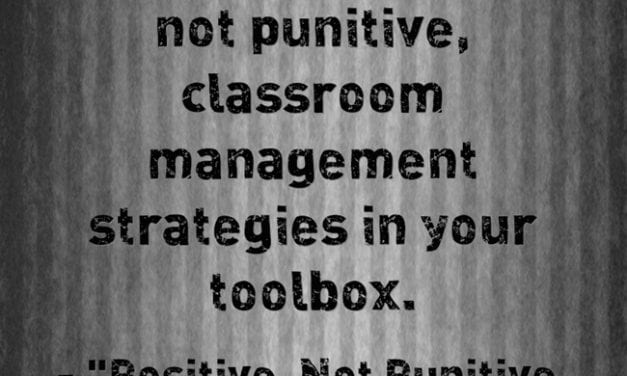 """A Look Back: """"Positive, Not Punitive, Classroom-Management Tips"""""""