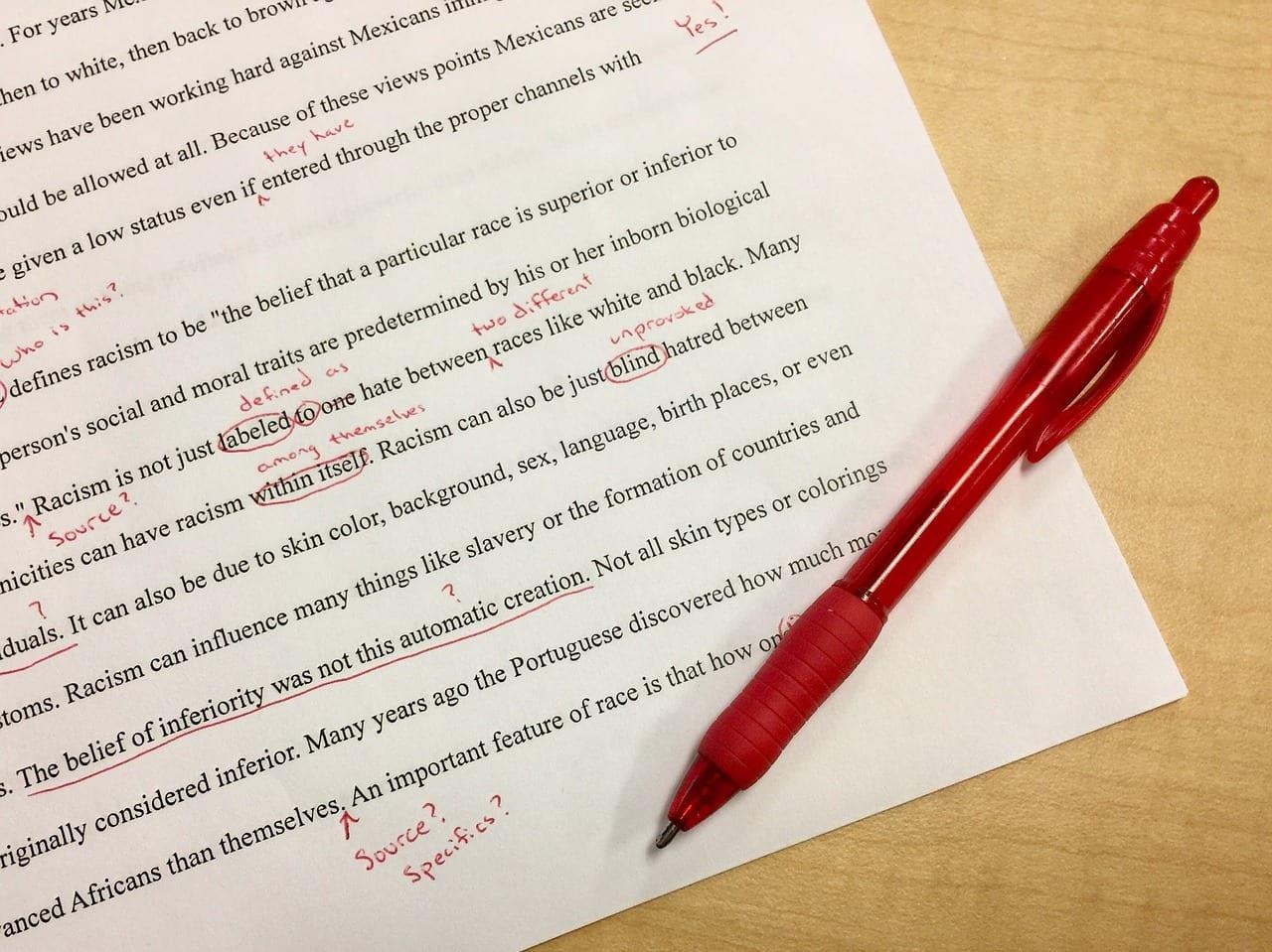 Editing List For When Teachers Write Books