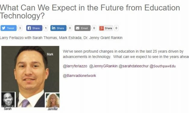 My New BAM! Radio Show Is On What Ed Tech Might Look Like Twenty-Five Years From Now