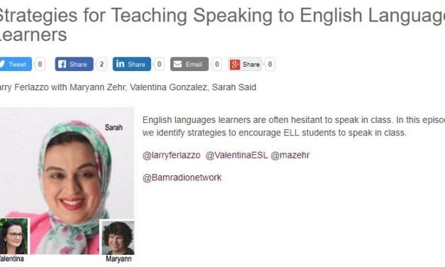 """My New BAM! Radio Show Is On """"Strategies for Teaching Speaking to ELLs"""""""