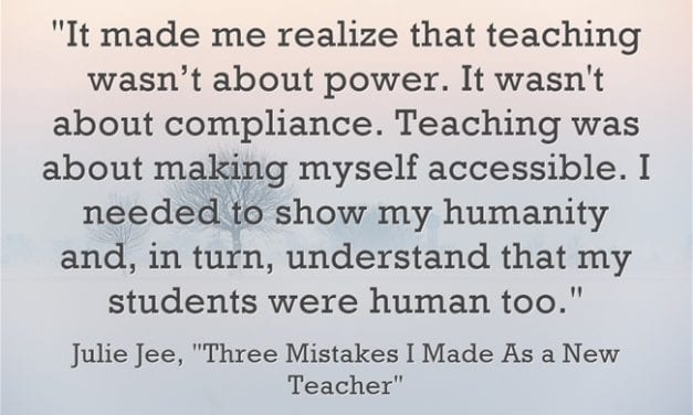 Guest Post: Three Mistakes I Made As a New Teacher