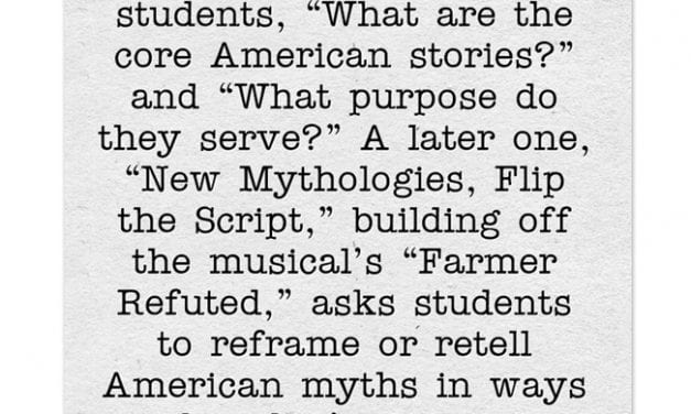 """""""Rise-Up!"""" Is A Curriculum Based On The Hamilton Musical"""
