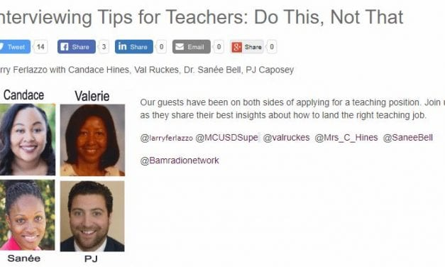 My Latest BAM! Radio Show Is On Getting Your First Teaching Job