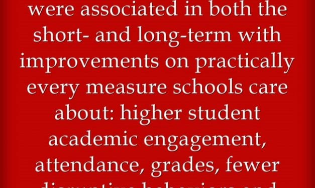 New Research Re-Confirms That Positive Teacher-Student Relationships Matter