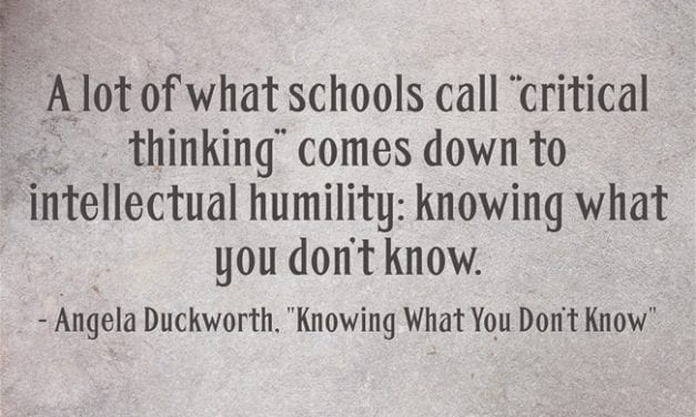 How Would You Teach A Lesson On Intellectual Humility?