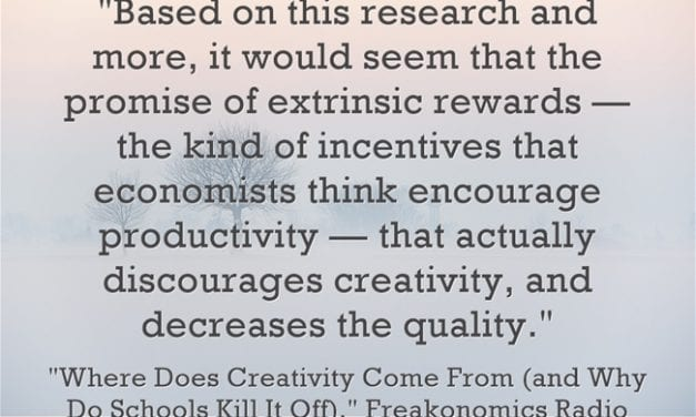 New – To Me, At Least – Research On Intrinsic Motivation