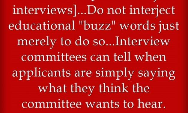 """'Be Authentic' in Teacher Job Interviews"""