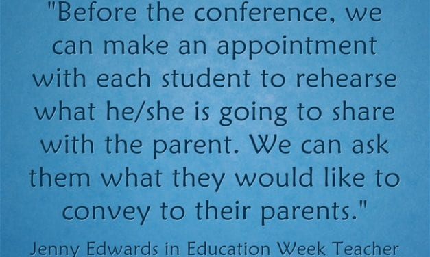 """""""The Student's Role in Parent-Teacher Conferences"""""""