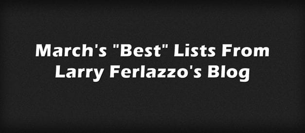 "March's ""Best"" Lists – There Are Now 2,033 Of Them!"