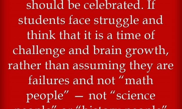 This Quote Is A GREAT One For Showing The Importance Of A Growth Mindset