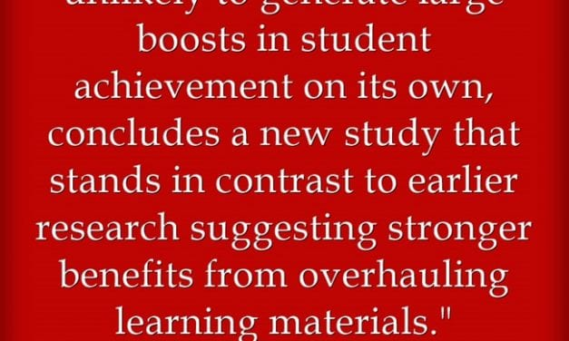 Is Any Teacher Surprised That New Study Finds Textbooks Not Key To Student Learning?