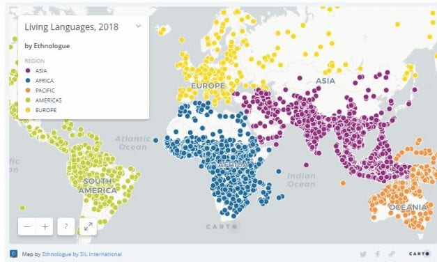 """See Where """"Every"""" Language Is Spoken In The World Today"""