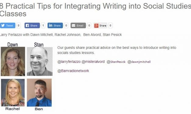My Latest BAM! Radio Show Is On Integrating Writing Into Social Studies Classes