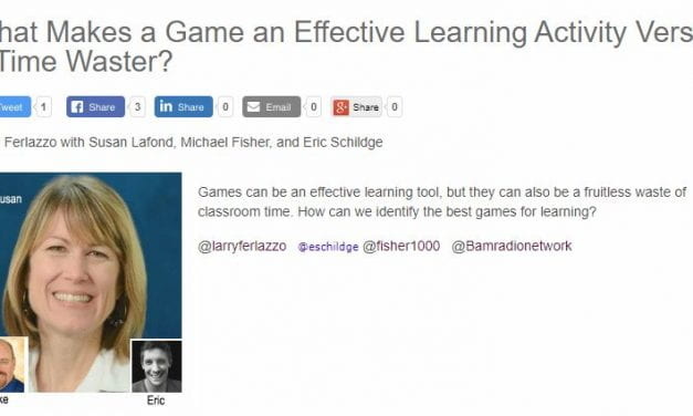 My Latest BAM! Radio Show Is On Games In The Classroom