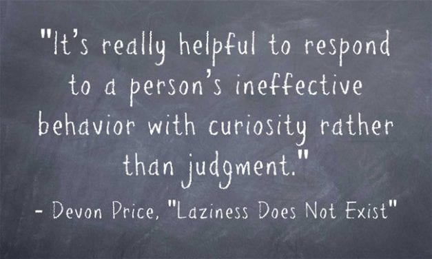 A Look Back – Important Classroom Management Reminder: Curiosity Can Work Better Than Judgment