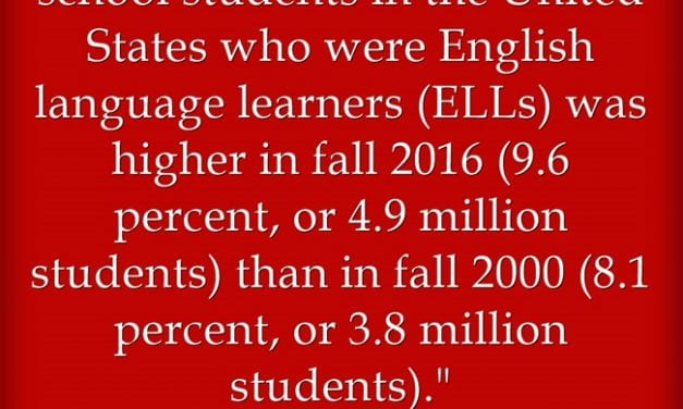 Hot Off The Press! The Most Up-To-Date Statistics On English Language Learners In The U.S.