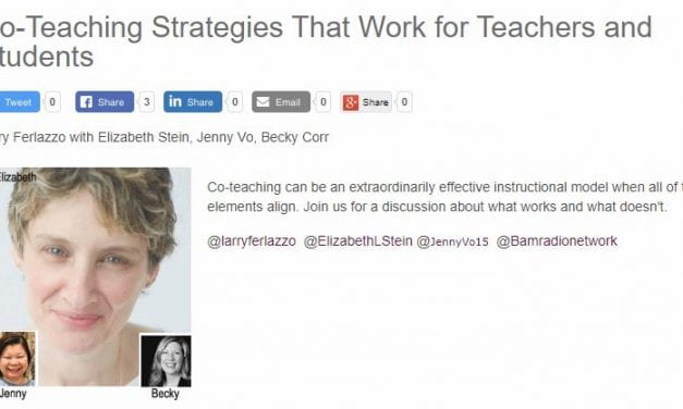 "My New BAM! Radio Show Is On ""Co-Teaching Strategies That Work for Teachers and Students"""