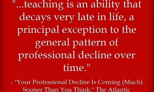Statistic Of The Day: Teachers Tend To Get Better With Time