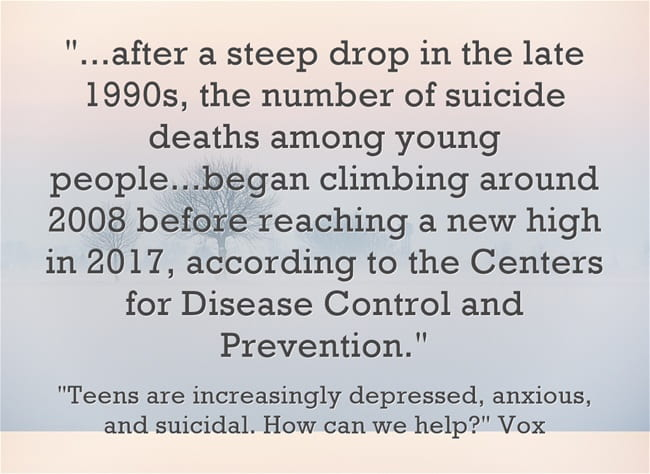 Not Good Statistic Of The Day: Teen Suicide Rate Increases