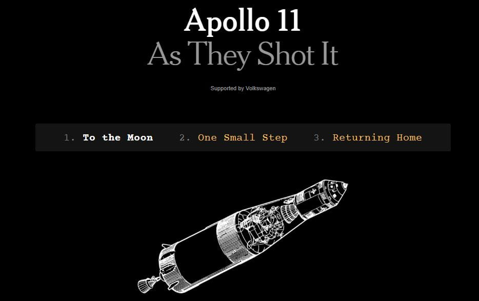 """""""Apollo 11 As They Shot It"""" Is A Cool NY Times Interactive"""
