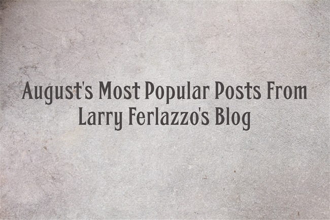 August's Most Popular Posts From This Blog