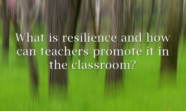 """""""How Can We Promote Resilience in the Classroom?"""""""