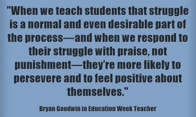 """""""Teach Students That 'Failure Is a Step Toward Success'"""""""