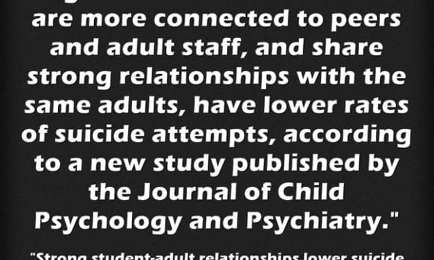 New Study Reaches Unsurprising Conclusion That Strong Relationships At School Equals Fewer Student Suicides