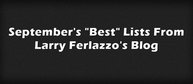 "September's ""Best"" Lists – There Are Now 2,077 Of Them!"