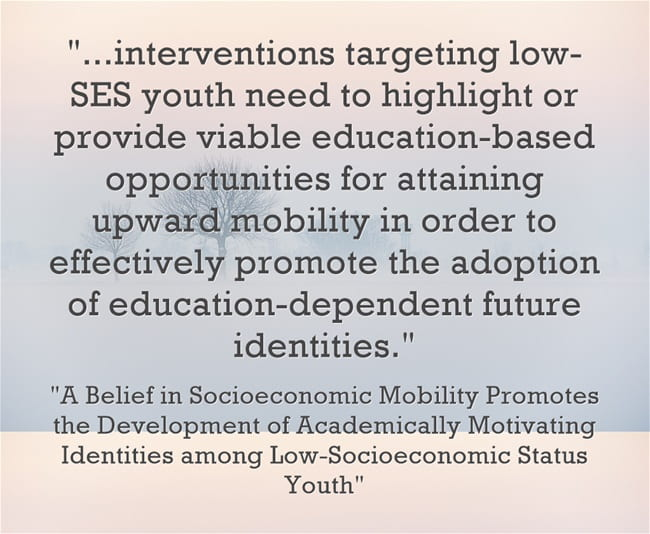 """New Study Finds That Students Become More Academically Motivated If They Have Hope In """"Socioeconomic Mobility"""""""