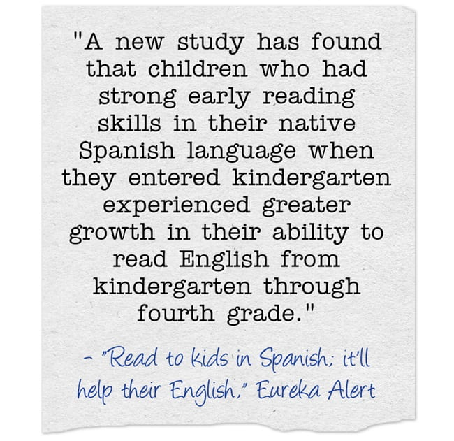 Another Study Finds Supporting A Student's Home Language Benefit Their English Acquisition