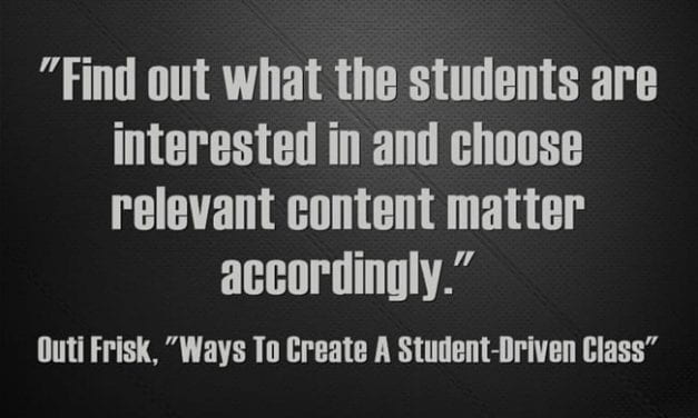 Guest Post: Ways To Create A Student-Driven Class
