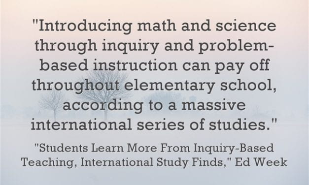 Big New Study Finds That Inquiry & Problem-Based Instruction In Math/Science Is Effective