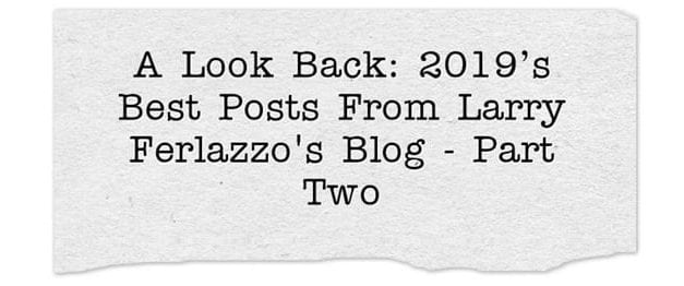 A Look Back: 2019's Best Posts From This Blog – Part Two
